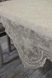 ギリシャ製の美しいテーブルリネン(テーブルクロス119cm角・2色あり)シャビーシックフレンチカントリーアンティーク雑貨輸入雑貨antiqueshabbychic