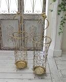 アンティーク風のお洒落な傘立て(ラビット・バード) アンブレラスタンド 傘立て ゴールド アイアン製 シャビーシック アンティーク 雑貨 アンティーク風 輸入雑貨 antique shabby chic