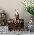 スタイルロココ バロックラビットボックスS ウサギの置物 アンティーク風 雑貨 シャビーシック フレンチカントリー 輸入雑貨 アンティーク 雑貨