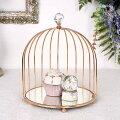スタイルロココ ミラートレイ(1段・ドーム8335) ディスプレイトレー ゴールド アンティーク風 アンティーク 雑貨 姫系 輸入雑貨 シャビーシック 可愛い 飾り棚