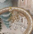 スタイルロココ ゴールドミニ シャンデリアオーナメント 8678 オーナメント クリスマス 飾り 置物 オブジェ ヨーロピアン アンティーク風 アンティーク 雑貨 姫系 輸入雑貨 シャビーシック 可愛い