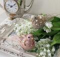 スタイルロココ バードクリップ 2色セット(10183 ピンク ゴールド)小鳥 鳥 飾り 置物 オブジェ ヨーロピアン アンティーク風 アンティーク 雑貨 姫系 輸入雑貨 シャビーシック 可愛い
