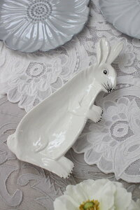 【LaCeramicaV.B.Cラ・セラミカイタリア】ラビットプレートウサギの飾り皿イタリア製輸入食器シャビーシックアンティーク風洋食器