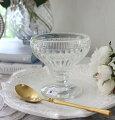 スタイルロココ デザートカップ ガラス製(カナリー130cc) 【La Rochere】 フランス ラロシェール クープ デザート皿 アイスカップ ガラス食器 輸入食器 可愛い