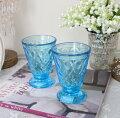 スタイルロココ ガラスコップ グラス(リヨネ・ブルー200cc) 【La Rochere】 フランス製 ラロシェール ウォーターグラス タンブラー ガラス食器 アンティーク風 お洒落