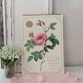 スタイルロココ 2020年  ルドゥーテ 壁掛けカレンダー大判 薔薇の香り付き 令和2年度  14枚つづり 日本製