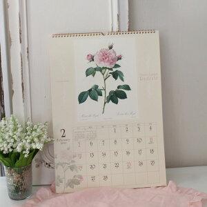 2016年ルドゥーテ壁掛けカレンダー大判薔薇の香り付き平成28年度14枚つづり