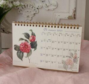 2012年ルドゥーテ卓上カレンダー薔薇平成24年度メール便可