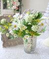 スタイルロココ 可憐なデージーブーケ ナチュラル 造花 可愛い ホワイト イエロー シルクフラワー アーティフィシャルフラワー インテリアフラワー ブーケ 花束