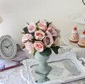 スタイルロココ ピンクが可愛い ローズアレンジ 花器付き アンティーク風 シック 大人カラー 薔薇 造花 シルクフラワー アーティフィシャルフラワー インテリアフラワー ブーケ 花束 おしゃれ