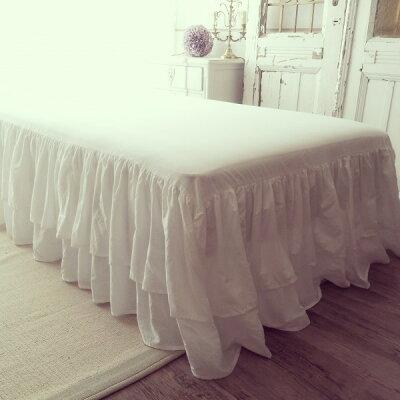 シャビーシックなベッドスカート♪♪ 【ロマンティックラッフル・シングル45cm】 コットン1...