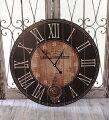 スタイルロココ アンティーク風 掛け時計(ブラック振り子・024WC)アンティーク 雑貨 掛け時計 ウォールクロック アンティーク風 シャビーシック antique