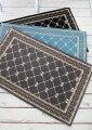 スタイルロココ フレンチスタイル 玄関マット50×80(グレー・ブラック・ブルー)おしゃれ ラグ 滑り止め付き シック シャビーシック アンティーク風