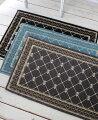 スタイルロココ フレンチスタイル 玄関マット60×90(グレー・ブラック・ブルー)おしゃれ ラグ 滑り止め付き シック シャビーシック アンティーク風