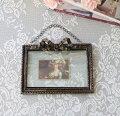 スタイルロココ アンティーク風 写真立て/壁掛け(リボン・093)フォトフレーム  可愛い アンティーク風 シャビーシック フレンチカントリー  リボンモチーフ アンティーク 雑貨 antique french country