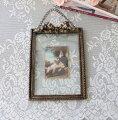スタイルロココ アンティーク風 写真立て/壁掛け(リボン・096)フォトフレーム  可愛い アンティーク風 シャビーシック フレンチカントリー  リボンモチーフ アンティーク 雑貨 antique french country
