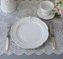 白い食器 プレート(リリーシリーズ)平皿 ディナープレート お皿 おしゃれ アンティーク 食器 アンティーク風 フレンチカントリー