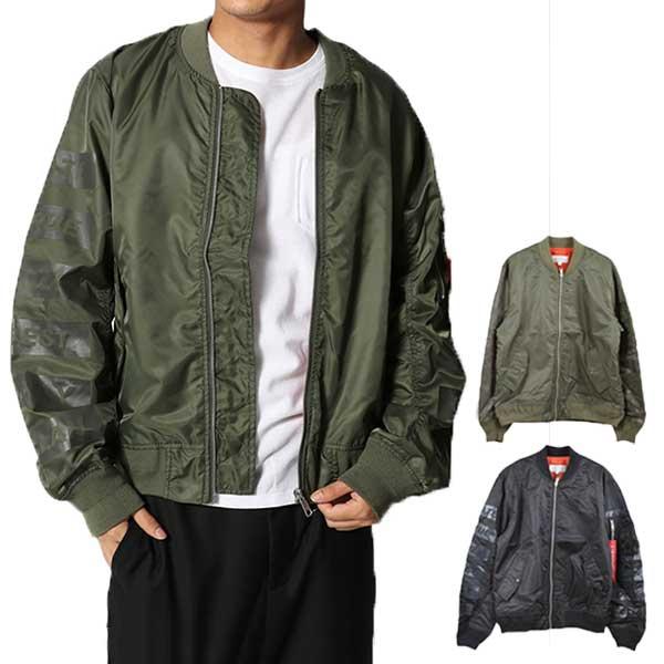 【あす楽対応】ジャケット ブルゾン MA-1 MA1 ミリタリージャケット 星条旗 国旗 アウター メンズ オリーブ ブラック