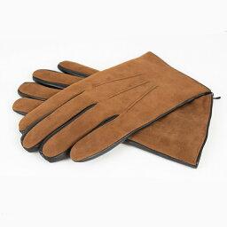 BRUNO CARLO   ブルーノカルロ 送料無料 イタリア製 暖かい カシミヤ 冬 スエード メンズ ドレス 手袋 ラムスキン×スエード キャメル×ブラック切り替えレザー メンズ グローブ