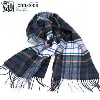 Johnstons|ジョンストンズDressGordonTypeタータンチェックカシミアマフラーストール1