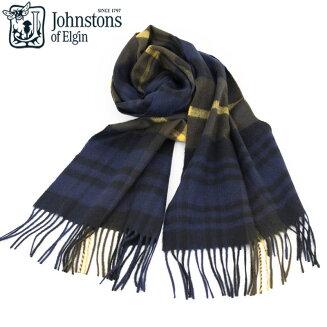 Johnstons|ジョンストンズGordonTypeタータンチェックカシミアマフラーストール1