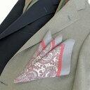 Style Edition|スタイルエディション グレー イタリーシルク ポケット チーフ