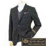 Style Edition|スタイルエディション Loro Piana ロロピアーナ カシミヤ混 モール素材 チャコールグレー 2ボタン脇パッチポケット ジャケット