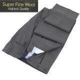 Style Edition|スタイルエディション Super Fine Wool グレー ノータック スラックス