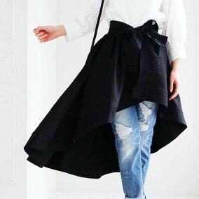 (ブラック)素敵な巻きスカートでワンコーデプラス♪3/31新作
