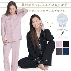 日本企画(7月末入荷予約)ルームウェアピーチスキンシャツ上下セットパジャマスイートオブルームス(SuiteofRooms)パジャマルームウェア