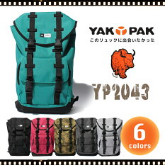 YAKPAK/ヤックパックリュックデイパックバックパック/レディースメンズ大容量通勤通学旅行YP2043