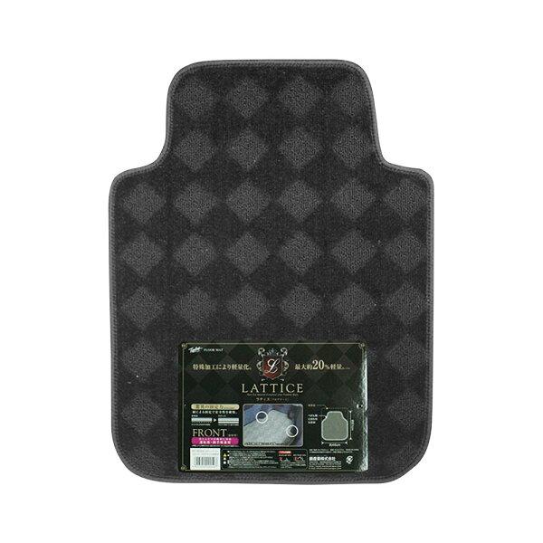 Tomboy ラティスマット フロント ブラック 車 フロアマット カーマット 運転席・助手席兼用 軽量 驚異の固定力