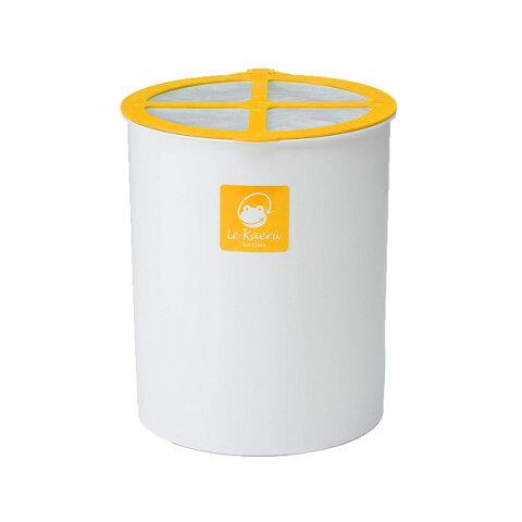チップ付き室内型家庭用生ごみ処理器 ル・カエル オレンジ 生ゴミ処理機 ごみ箱 ダストボックス コンポスト リサイクル