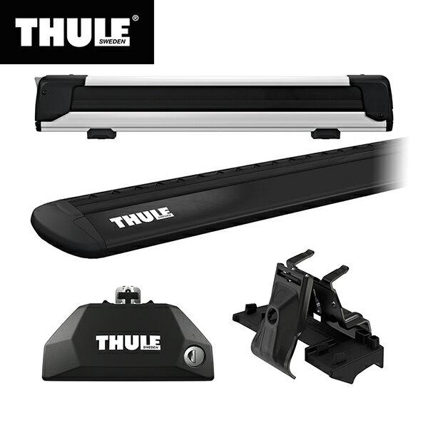 THULE(スーリー) BMW X1専用ベースキャリア(フット7106+ウイングバー EVO7113B+キット6007)+スキーキャリア スノーパック エクステンダー7325 F48 2015~