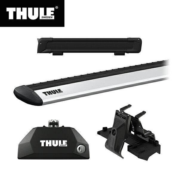 THULE(スーリー) BMW X1専用ベースキャリア(フット7106+ウイングバー EVO7113+キット6007)+スキーキャリア スノーパック7324B F48 2015~