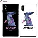 iPhone XSケース iPhone Xケース MILKBOY ミルクボーイスクエアガラスケース Riot Rabbits。Gizmobies ギズモビーズアイフォンカバー。ファッションブランドオリジナル プレゼント付き