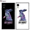 iPhone XRケース MILKBOY ミルクボーイスクエアガラスケース Riot Rabbits。Gizmobies ギズモビーズアイフォンカバー。ファッションブランドオリジナル プレゼント付き