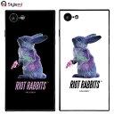 iPhone 8ケース MILKBOY ミルクボーイスクエアガラスケース Riot Rabbits。Gizmobies ギズモビーズアイフォンカバー。ファッションブランドオリジナル プレゼント付き