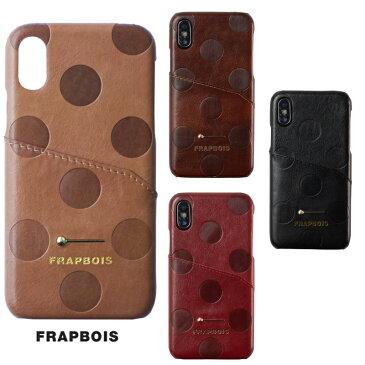 iPhone XSケース FRAPBOIS(フラボア)レザー ケース Gizmobies ギズモビーズ MOKKIN CASE。人気ファッションブランドライセンス製品。型押しのドット柄と木琴のバチをモチーフにした金具付きカバータイプ。プレゼント付き