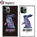 iPhone 11 Proケース MILKBOY ミルクボーイスクエアガラスケース Riot Rabbits。Gizmobies ギズモビーズアイフォンカバー。ファッションブランドオリジナル プレゼント付き
