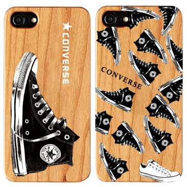 【特価品 再入荷ナシ】iPhone SE(2020年モデル),iPhone 8,7ケース Gizmobies × Converse背面ウッドカバー。コンバースロゴやスニーカーをウッドにプリントしたファンにはたまらないデザインの天然木利用アイフォンプロテクトケース。プレゼント付き