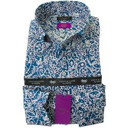 リバティプリント タナローン 国産長袖綿100%ドレスシャツ コンフォート ボタンダウン ラゴス・ローレル 2001