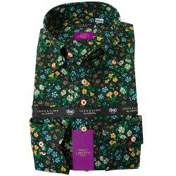 リバティプリント 国産長袖綿100%ドレスシャツ コンフォート ボタンダウン マリア タナローン 2001