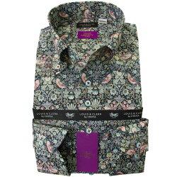 リバティプリント 国産長袖綿100%ドレスシャツ コンフォート ボタンダウン ストロベリー・シーフ タナローン 2001