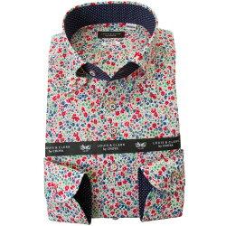 リバティプリント 国産長袖綿100%ドレスシャツ 不リムフィット ボタンダウン フィービー タナローン 2001
