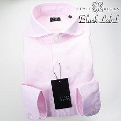 1705 国産オリジナル長袖ドレスカジュアルシャツ カッタウェイワイドカラー シャンブレーピンク カラミ織 製品洗い加工