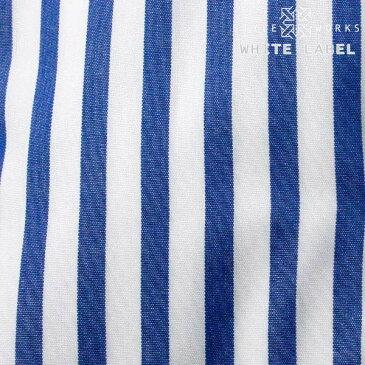 <White Label〜ホワイトレーベル〜>オリジナルドレスシャツ 長袖 カッタウェイワイド ブルーロンドンストライプメンズ fs3gm