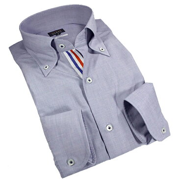 国産綿100長袖オリジナルドレスシャツ コンフォート ボタンダウン シャンブレーネイビーメンズ fs3gm