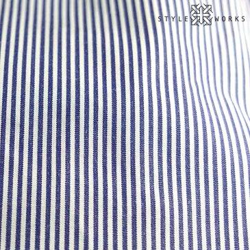 国産綿100長袖オリジナルドレスシャツ コンフォート ボタンダウン ブルーロンドンストライプメンズ fs3gm