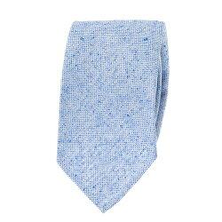 ネップツイードシルク 国産ネクタイ 無地 ライトブルー シルク100%